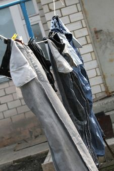 Free Drying Jeans Stock Photos - 9334163