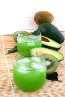Avocado Juice Royalty Free Stock Image