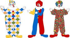 Free Clown Set Royalty Free Stock Photo - 9334615
