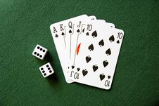 Free Royal Flush Stock Photography - 9334732