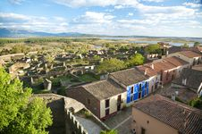 Free Granadilla Village From The Castle Royalty Free Stock Photos - 9335168