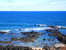 Free Rocky Coastline On The Road To Hana, Hawaii Royalty Free Stock Photos - 9335388