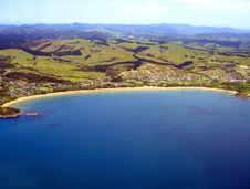 Free Aerial View Of Coopers Beach, New Zealand Stock Photo - 9335430
