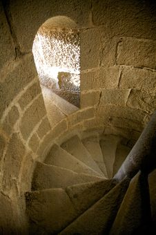 Free Stairs Inside Castle Royalty Free Stock Photo - 9335715