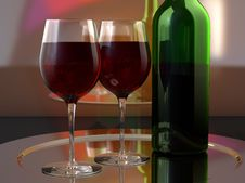 Free Wine Glasses And Bottle Stock Images - 9336304