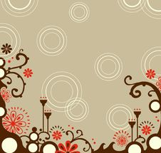 Free Decorative Floral Border Royalty Free Stock Image - 9336396