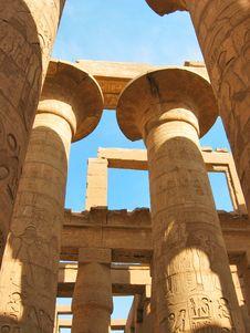 Free Grandiose Colonnade In Karnak Temple Royalty Free Stock Image - 9336406