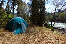Free Dark Blue Tent Royalty Free Stock Image - 9336536