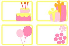 Happy Birthday Tags Royalty Free Stock Images