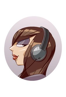 Free Girl With Headphones Royalty Free Stock Images - 9337849