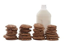 Free Cookies And Milk Royalty Free Stock Photography - 9338127