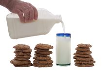 Free Chocolate Chip Cookies And Milk Stock Images - 9338134