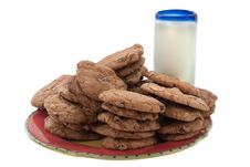 Free Cookies And Milk Stock Images - 9338154