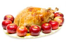 Free Turkey On The Plate Stock Image - 9338591