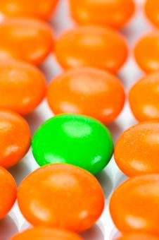 Chocolated Coated Candy Royalty Free Stock Photography