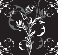 Free Black Floral Background Stock Image - 9339751