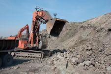 Free Bulldozer Grab Stones With Bucket Royalty Free Stock Image - 93396456
