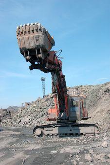 Free Bulldozer Grab Stones With Bucket Stock Image - 93396471