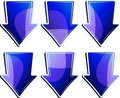 Free Set Of Blue Arrows Royalty Free Stock Image - 9340766