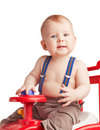 Free Small Boy With A Toy Royalty Free Stock Images - 9349079