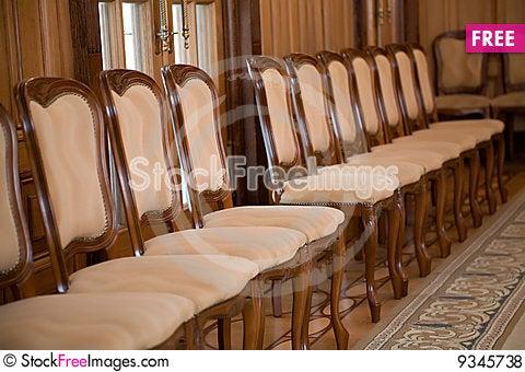 Free Chair Row Royalty Free Stock Photos - 9345738