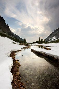 Free Mountains Creek Royalty Free Stock Photo - 9340065