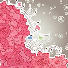 Free Floral Retro Background Stock Image - 9340841