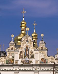 Free Golden Domes In The Monastery Of St. Michel, Kiev Stock Photos - 9340973