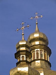 Free Golden Domes In The Monastery Of St. Michel, Kiev Royalty Free Stock Images - 9340979