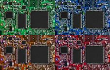 Free Microcircuit Technology Backgrounds Stock Image - 9341041