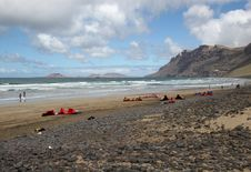 Free Famara Beach,  Lanzarote Stock Photos - 9341183