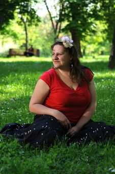 Free Bohemia Woman In A Park Royalty Free Stock Photo - 9341205