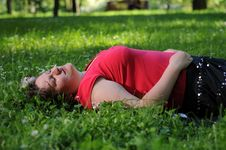 Free Bohemia Woman In A Park Royalty Free Stock Photography - 9341277
