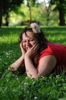 Free Bohemia Woman In A Park Royalty Free Stock Images - 9341329