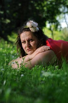 Bohemia Woman In A Park Royalty Free Stock Photos