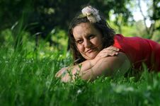 Free Bohemia Woman In A Park Stock Photography - 9341392