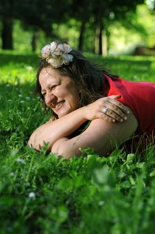 Free Bohemia Woman In A Park Royalty Free Stock Image - 9341416