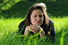 Free Bohemia Woman In A Park Stock Images - 9341544