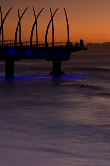 Sunrise Pier Royalty Free Stock Photography