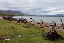Abandoned Anchors Sutherland Royalty Free Stock Images