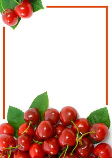 Free Ripe Sweet Cherries With Copy Space Stock Photo - 9343380