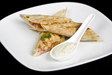 Free Salmon Is In Lavash Stock Photography - 9343552