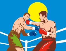 Free Boxer Connecting A Punch Royalty Free Stock Images - 9343829