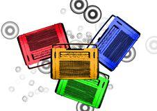 Free Old Colorful Vintage Retro Radios Stock Photo - 9344110