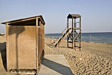Free Lifeguard Tower And Cabana In Greece Stock Photography - 9344202