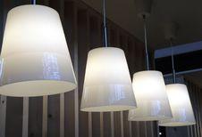 Lamp In Array Stock Photo