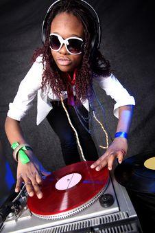 Free Cool Afro American DJ Stock Image - 9345011
