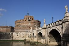 Free San Angelo Bridge And Castle In Rome,Italy Stock Photography - 9345132