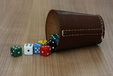 Dices And Cup Stock Photography