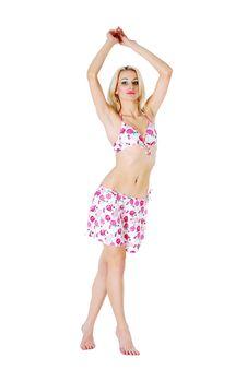 Free Sexy Blonde Model In Bikini. Stock Images - 9345444